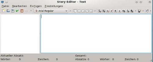 text schreiben und bearbeiten
